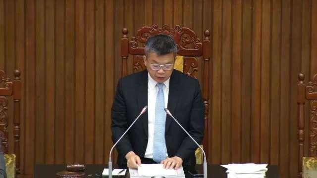 立法院副院長蔡其昌。(圖:立法院隨選視訊)