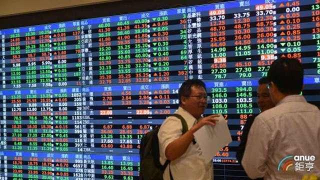 台股今 (13) 日下跌34點收16824點。(鉅亨網資料照)