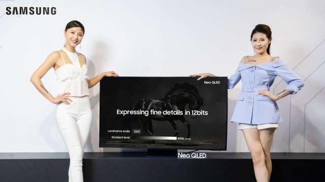 三星QLED電視導入MiniLED背光技術,2025年市占上看20%。(圖:三星提供)