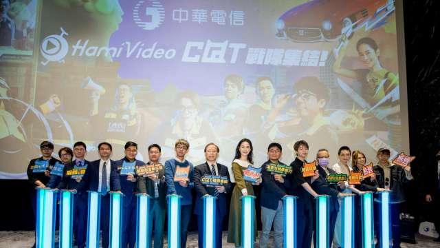 中華電信推出hami video c@t網紅館。(圖中華電提供)