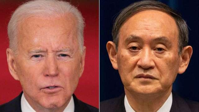 菅義偉將與拜登共商新世代半導體及供應鏈合作大計 (圖片:AFP)