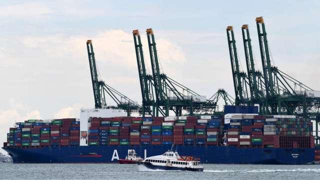 新加坡3月非石油出口增長12.1% 超出市場預期(圖片:AFP)