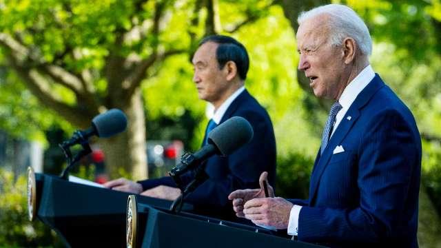 拜登、菅義偉強調台海穩定!美日峰會聚焦中國影響力 (圖:AFP)