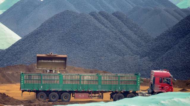 礦業巨頭產能難跟上中國需求 鐵礦砂價恐再攀高 (圖:AFP)