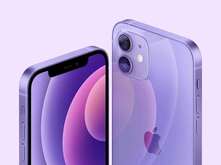 蘋果推出紫色版 iPhone12 及 iPhone 12 Mini (圖片:蘋果)