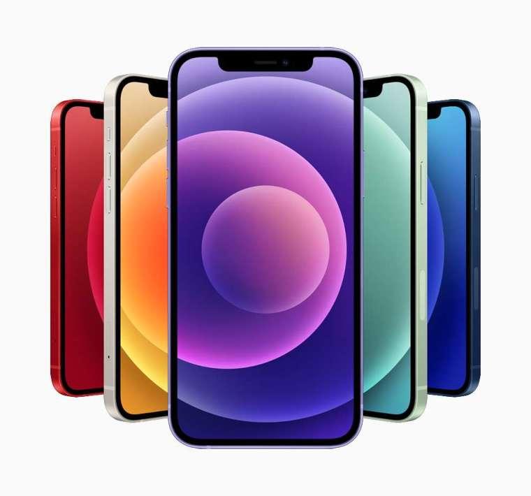 iPhone 12 和 iPhone 12 mini 系列加入了華麗新配色 (圖片:蘋果)