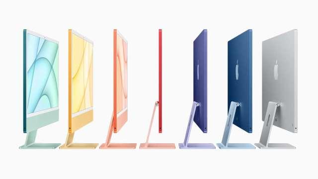 英特爾挫跌!蘋果推出新iMac 首款搭載M1晶片 (圖片:蘋果)