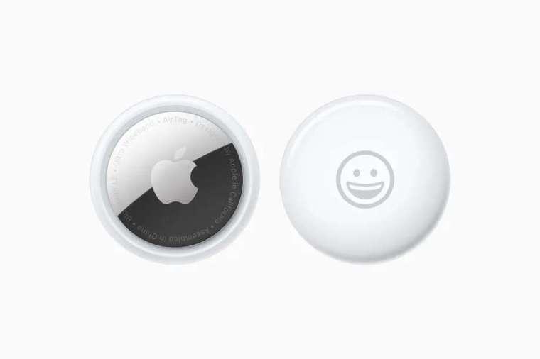 AirTag 外觀是類似於冰球小型設備 (圖片:蘋果)