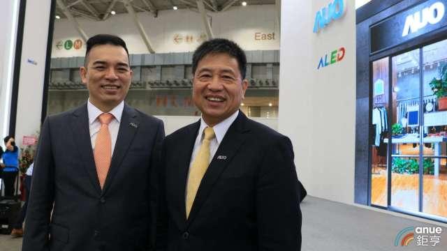 友達董事長彭双浪(右)、總經理柯富仁(左)。(鉅亨網記者劉韋廷攝)