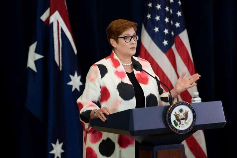 澳洲外長潘恩宣布,澳洲政府撤銷與中國簽訂的一帶一路協議。(圖片:AFP)