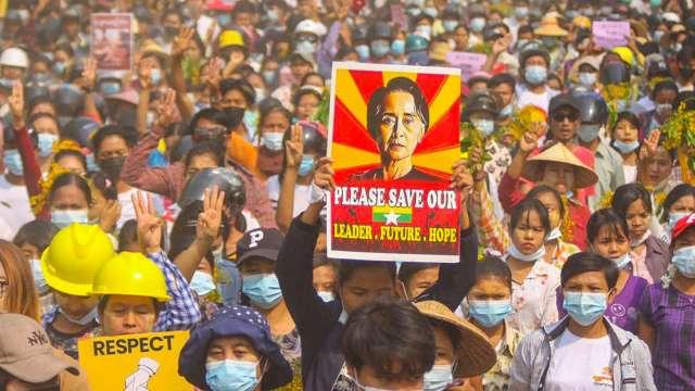 美財政部祭出新制裁 瞄準兩家緬甸國有企業。(圖片:AFP)