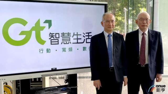 左為亞太電董事長呂芳銘,右為總經理黃南仁。(鉅亨網記者沈筱禎攝)