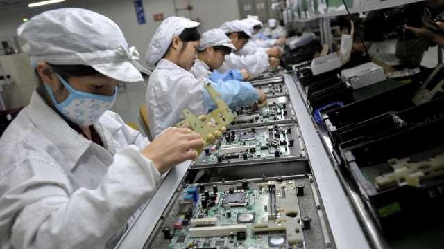 3月製造業生產指數連十四紅創新高,Q1寫歷史次高。(圖:AFP)
