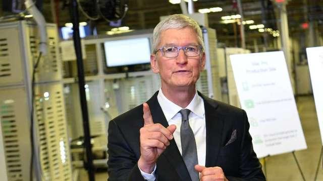 蘋果宣布5年4300億美元美國投資計畫 要創造2萬個就業機會(圖:AFP)