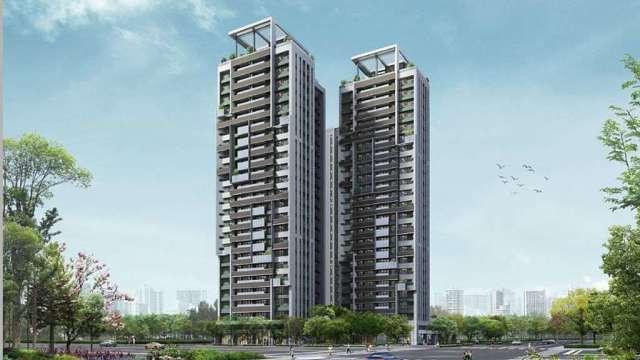 國建與日本三井不動產合資在台開發台南住宅案外觀合成圖。(圖:創意家行銷提供)