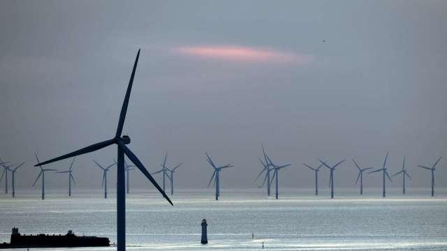台中港築起「綠能長城」 離岸風電迎接黃金10年。(圖:AFP)