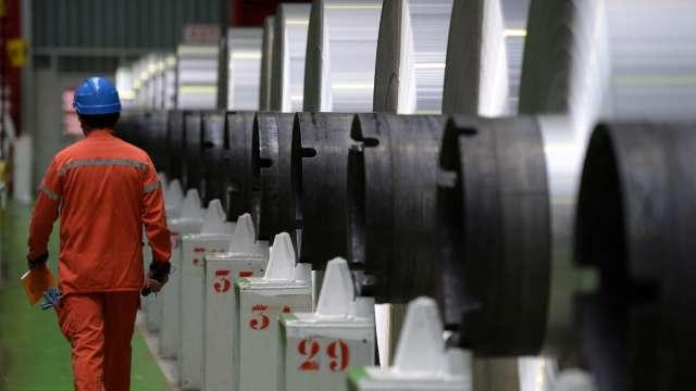 中國5/1起調整部分鋼鐵產品關稅 出口稅率增至15-25%。(圖:AFP)