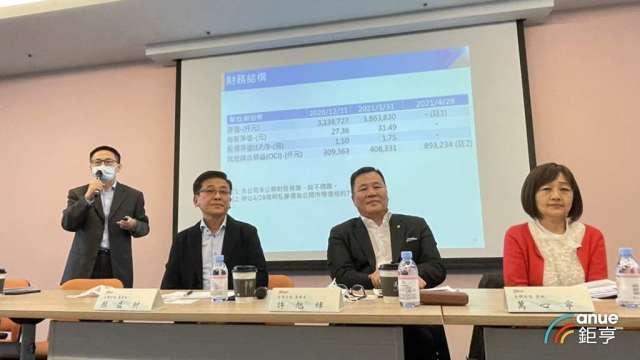 台驊董事長顏益財(左2)。(鉅亨網記者王莞甯攝)