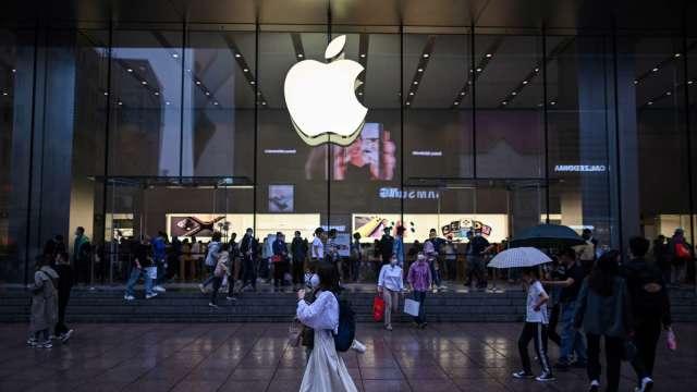 歐盟指控App Store違反競爭規定 蘋果盤前挫逾1%  (圖:AFP)