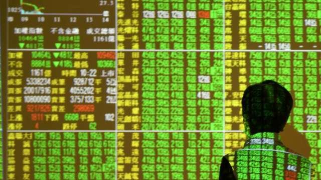 台股重挫逾300點回測月線 三大法人聯手賣超200.61億元。(圖:AFP)