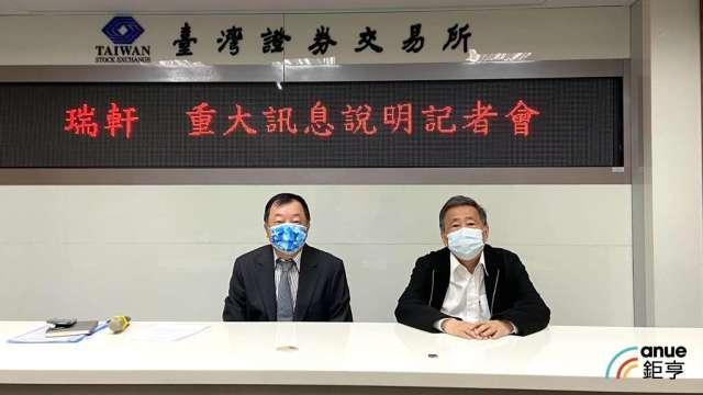 瑞軒董事長吳春發(右)、財務長邱裕平(左)。(鉅亨網記者劉韋廷攝)