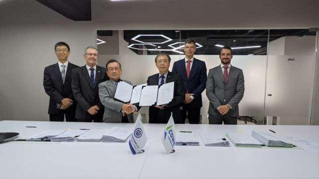 台船與台船環海公司簽署水下基礎基樁產能保留協議。(圖:台船提供)