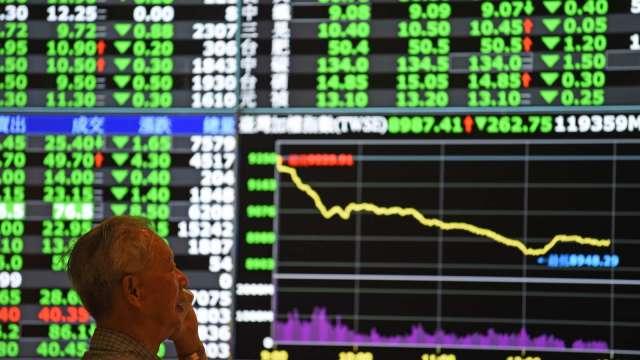 台股大跌288點失守萬七大關,三大法人賣超82.81億元。(圖:AFP)