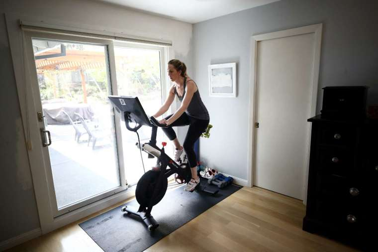 Peloton 號稱是「健身界的 Netflix」 (圖片:AFP)