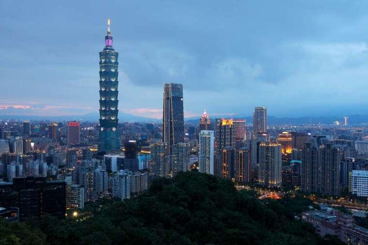台北天際線。圖: AFP