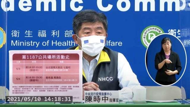 諾富特接駁車司機、華航機師染疫 累計35例確診。(圖:取自疾管署直播)