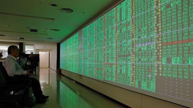 台股逾350檔打入跌停 防疫概念股萬綠叢中一點紅。(圖:AFP)