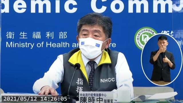 萬華蘆洲染疫者有連結 陳時中:防疫升三級可能性降低。(圖:取自疾管署直播)