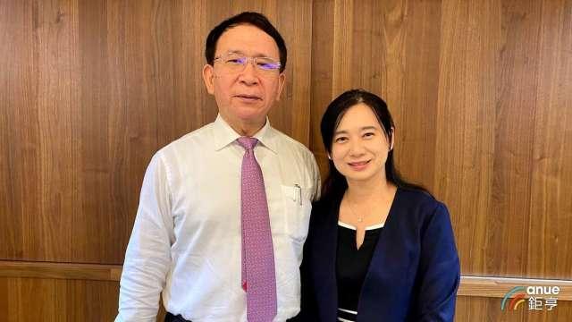 左為永昕董事長林榮錦、右為總經理陳佩君。(鉅亨網資料照)