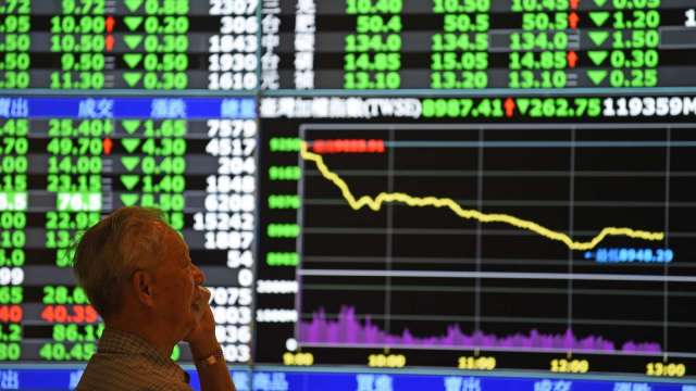 台股續殺232點 三大法人賣超261.04億元 外資4天狂砍近800億元。(圖:AFP)