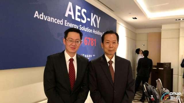 左至右為AES-KY總經理宋維哲、新普董事長宋福祥。(鉅亨網資料照)