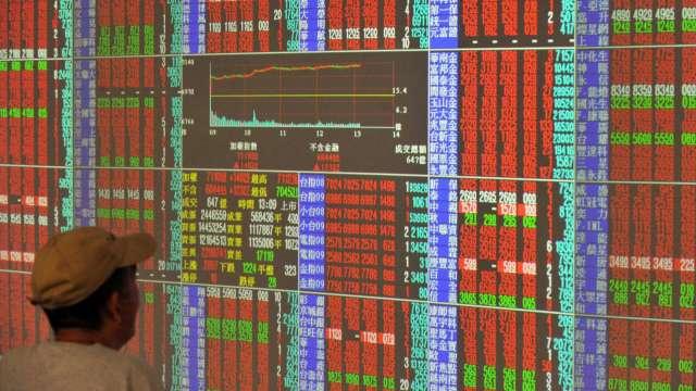 台股漲逾百點站不回萬六 外資連5賣 三大法人賣超148.03億元。(圖:AFP)