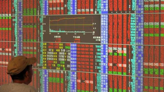 護國神山甦醒 台股噴漲792點收16145點 創史上最大漲點。(圖:AFP)