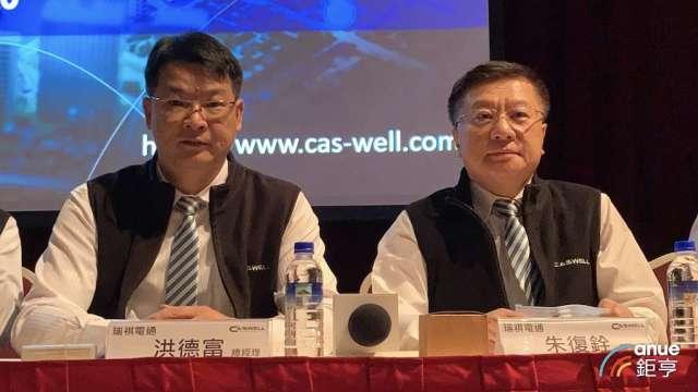 左起為瑞祺電總經理洪德富及董事長朱復銓。(鉅亨網資料照)