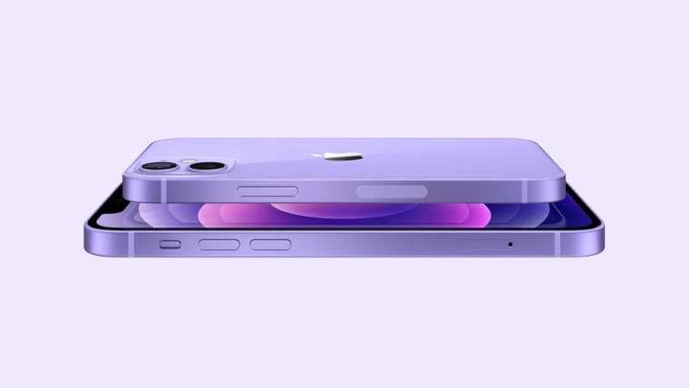 蘋果在春季發表會中推出了大受歡迎的紫色 iPhone 12(圖片:蘋果)