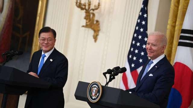美韓峰會達成疫苗合作 聯合聲明提及台海穩定重要性 (圖:AFP)