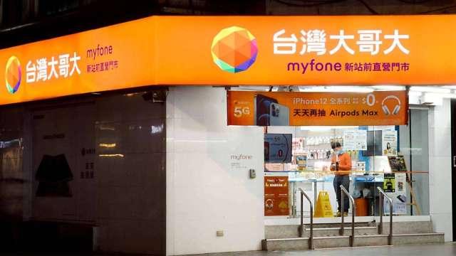 台灣大萬華門市員工 赴三重支援確診。(圖:台灣大提供)