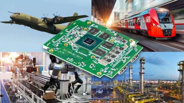 凌華發表搭載NVIDIA Quadro P1000圖形處理器的商規PC/104嵌入式圖形模組。(圖:凌華提供)