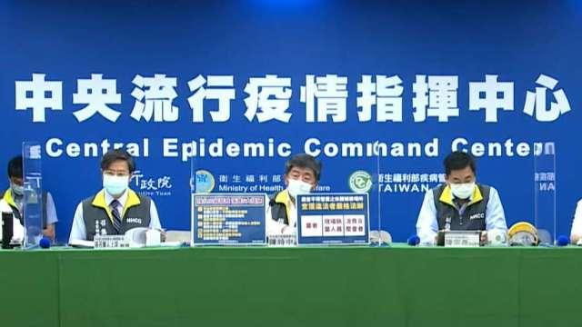 台灣新冠肺炎新增11死,本土確診與校正回歸共計633例。(圖:取自疾管署直播)