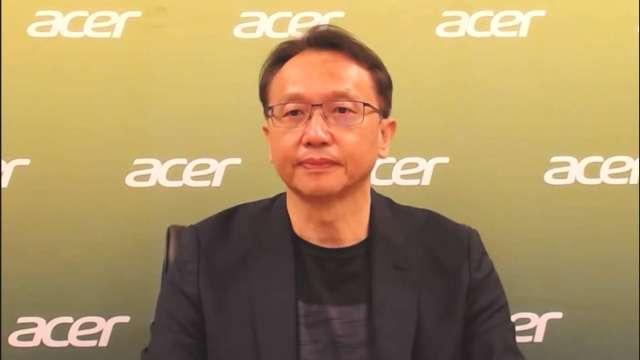 宏碁董事長陳俊聖。(圖:擷取自宏碁線上記者會會議)