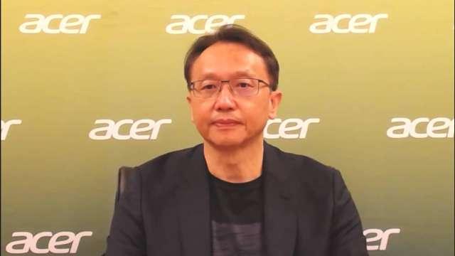 宏碁董事長陳俊聖。(圖:擷取自宏碁線上記者會活動)