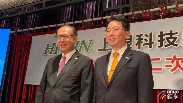 左起上銀集團總裁卓永財、上銀董事長卓文恒。(鉅亨網資料照)