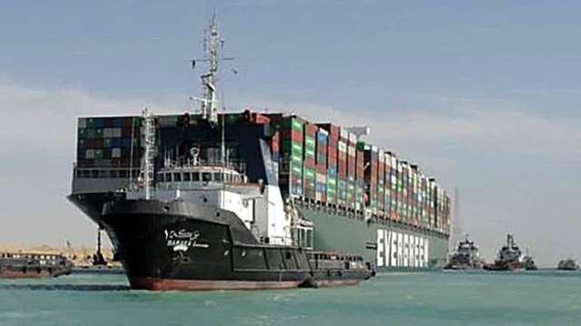 長賜號擱淺事故 當局調降求償金額、與船東之間落差仍大 (圖片:AFP)