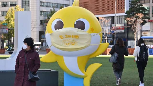 馬斯克推文大讚Baby Shark 南韓Samsung Publishing股價大漲10%(圖片:AFP)