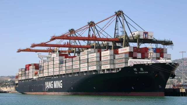 圖:陽明提供資料照,非意外事件相關船隻。