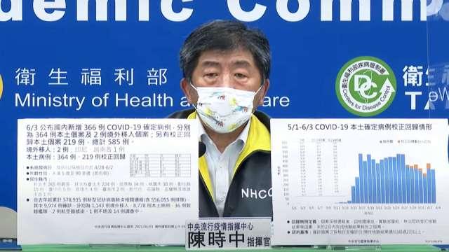 年輕人染疫增 陳時中:疫情攀高峰 端午避免返鄉。(圖:取自疾管署直播)